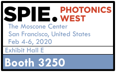 SPIE Photonics West Logo, Booth 3250